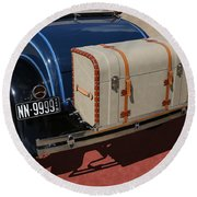 Round Beach Towel featuring the photograph 1931 Ford Model A Roadster by Debi Dalio