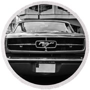 Ford Mustang Vintage 1 Round Beach Towel