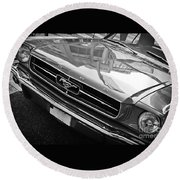 Ford Mustang Vintage 2 Round Beach Towel