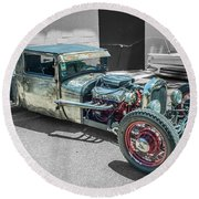Ford Rat Rod Round Beach Towel