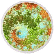 Forest And Sky Round Beach Towel