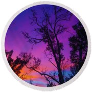 Forest Colors Round Beach Towel