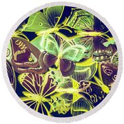 Forest Flutters Round Beach Towel