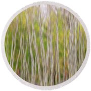 Round Beach Towel featuring the photograph Forest Twist And Turns In Motion by James BO Insogna