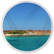 Round Beach Towel featuring the photograph Fort Jefferson, Dry Tortugas National Park by Kay Brewer