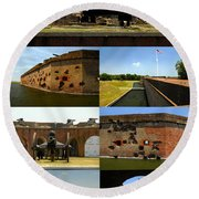 Fort Pulaski National Monument Poster A Round Beach Towel