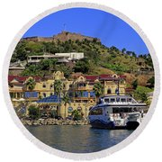 Round Beach Towel featuring the photograph Fort St Louis by Tony Murtagh