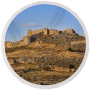 Fortress Larissa Round Beach Towel