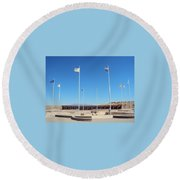 Four Corners Monument Round Beach Towel
