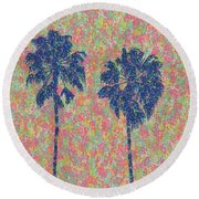 Four On Voltaire Round Beach Towel