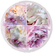 Round Beach Towel featuring the digital art Four Peonies  by Cindy Greenstein