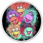 Fraggle Rock Round Beach Towel