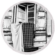 Franch Laundry Round Beach Towel