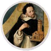 Fray Juan Bautista Maino / 'saint Dominic', 1612-1614, Spanish School. Round Beach Towel