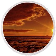 Friday Sunset Round Beach Towel