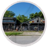 Frog Hollow General Store - Augusta Ga Round Beach Towel