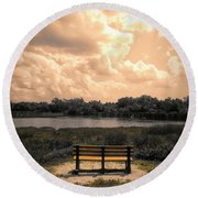 From Here To Eternity Round Beach Towel