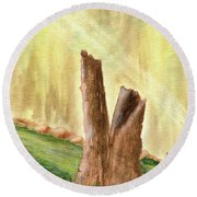 From Ruins Comes New Life Round Beach Towel
