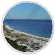 From The Lighthouse Round Beach Towel