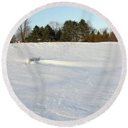Frost Delay Round Beach Towel