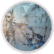 Frozen City Of Ice Round Beach Towel