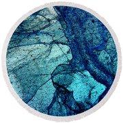 Frozen In Blue Round Beach Towel