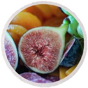 Fruit Plate Round Beach Towel
