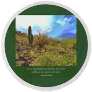 Round Beach Towel featuring the photograph Fruits Of Our Labor by Judy Kennedy