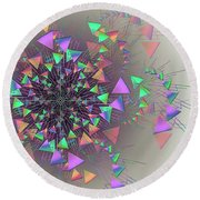 Round Beach Towel featuring the digital art Fusion by Vitaly Mishurovsky
