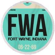 Fwa Fort Wayne Luggage Tag I Round Beach Towel