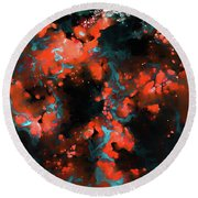 Round Beach Towel featuring the painting Galatians 2 20. Crucified With Christ by Mark Lawrence