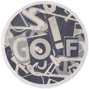 Game Of Golf Round Beach Towel