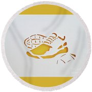 Game Time Round Beach Towel