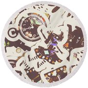 Games And Fairytales Round Beach Towel
