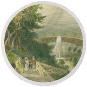 Garden At Fairmount Round Beach Towel