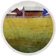 Garner Farm, Mineral Point, Wi Round Beach Towel