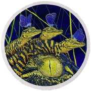 Gator Nursery  Round Beach Towel
