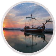 Round Beach Towel featuring the photograph Gaul by Davor Zerjav