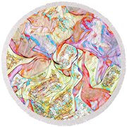 Round Beach Towel featuring the digital art Gene Therapy by Mike Braun