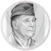 General Chuck Horner Round Beach Towel