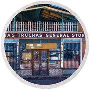 General Store Round Beach Towel