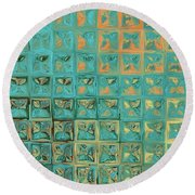 Round Beach Towel featuring the painting Genesis 15 1. I Am Your Shield by Mark Lawrence