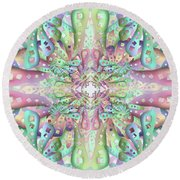 Round Beach Towel featuring the digital art Genome by Vitaly Mishurovsky