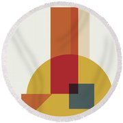 Geometric Painting 13 Round Beach Towel