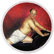 George Costanza Round Beach Towel