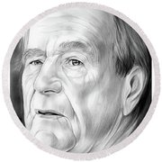 George Hw Bush 1924 - 2018 Round Beach Towel