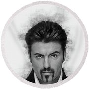 George Michael Round Beach Towel