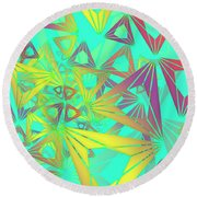 Round Beach Towel featuring the digital art Geovirt by Vitaly Mishurovsky