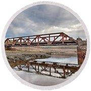 Ghost Bridge - Colebrook Reservoir Round Beach Towel
