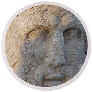 Giant Head Of Heracles,  Tumulus Round Beach Towel